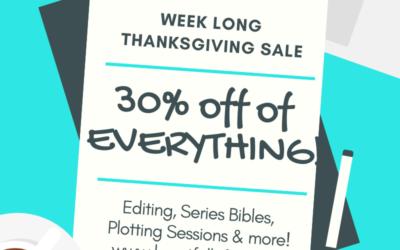 Week Long Thanksgiving Sale