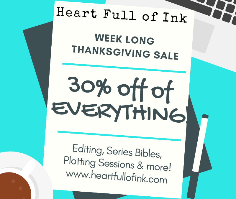 Week Long Thanksgiving Sale
